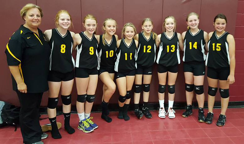 Clearbrook Gonvick District 2311 7th Grade Volleyball Team