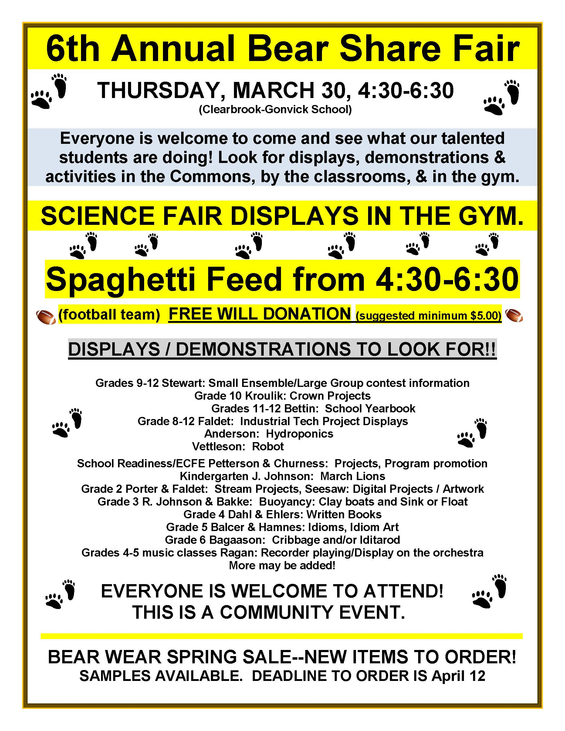 clearbrook gonvick district bear share science fair inserted image
